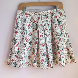Gap Floral Pleated Skirt w/ Pockets